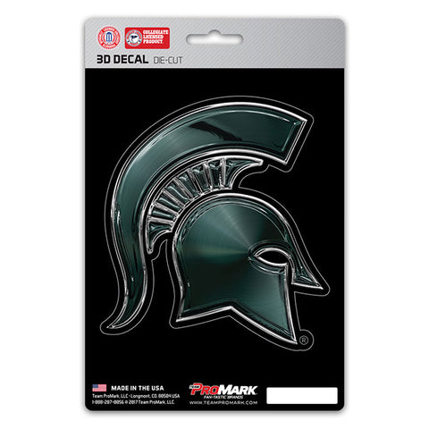 Michigan State Spartans 3D Die Cut Decal NEW!! 4 X 4 Window or Car! Flat Decal