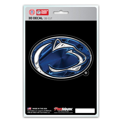Penn State Nittany Lions 3D Die Cut Decal NEW!! 4 X 3 Window or Car! Flat Decal