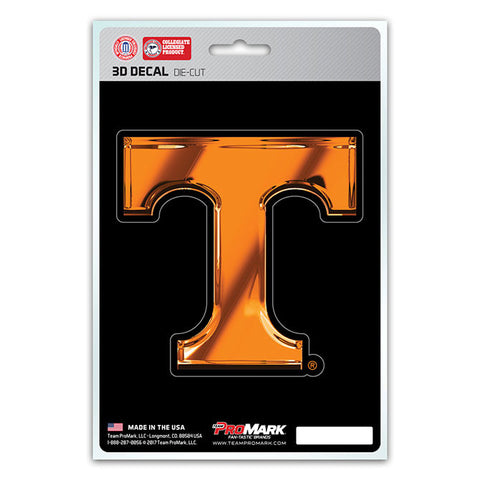 Tennessee Volunteers 3D Die Cut Decal NEW!! 4 X 4 Window or Car! Flat Decal