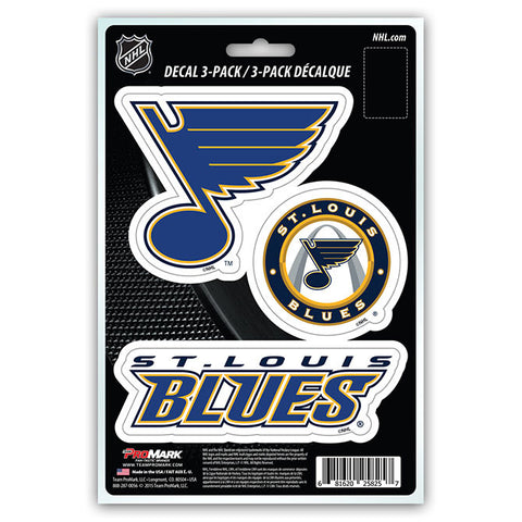 St. Louis Blues Set of 3 Die Cut Decal Stickers NEW Free Shipping!