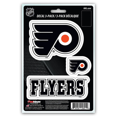 Philadelphia Flyers Set of 3 Die Cut Decal Stickers NEW Free Shipping!