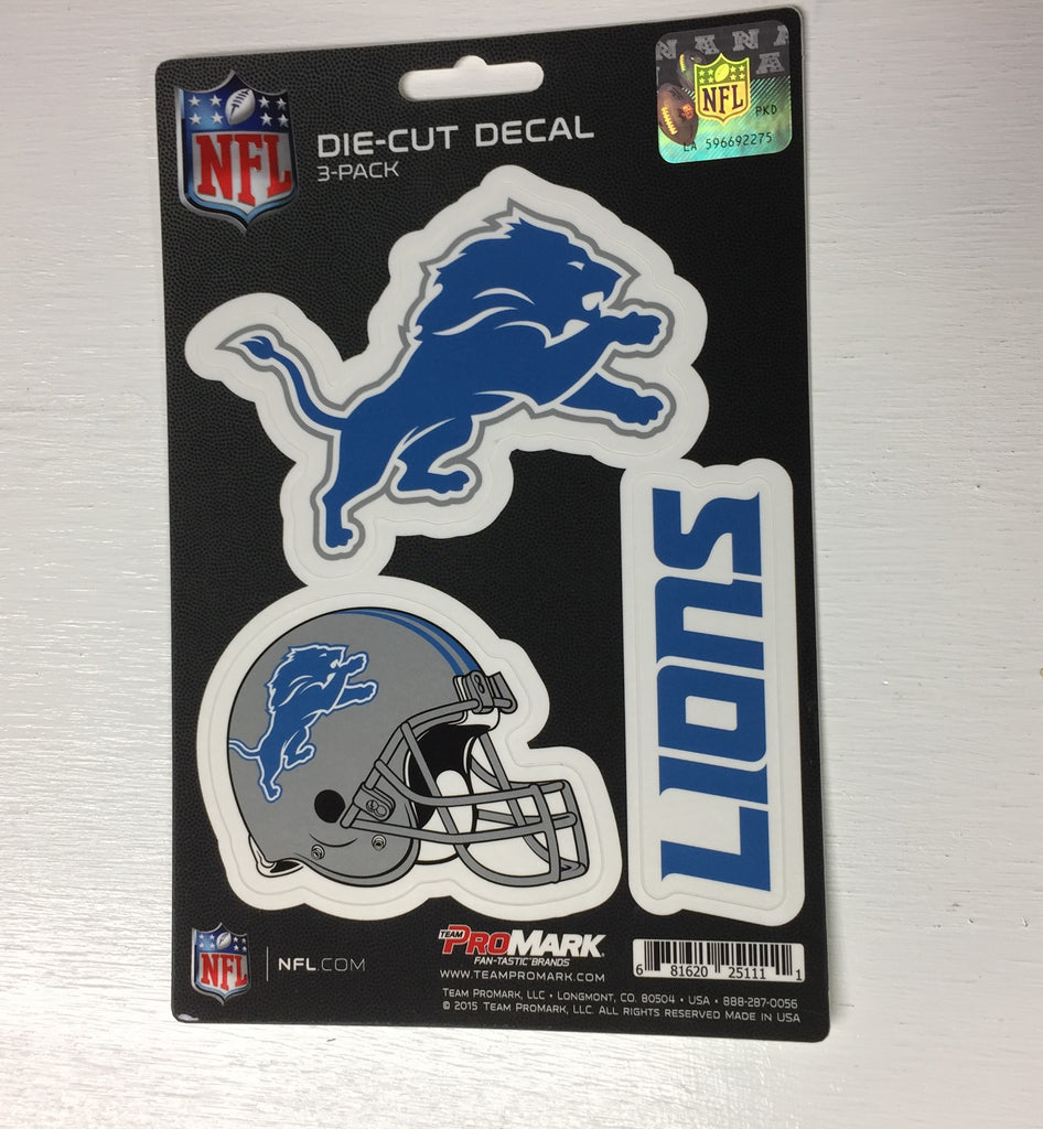 c3e45a0e Detroit Lions Set of 3 Die Cut Decal Stickers Helmet Logo Free Shipping