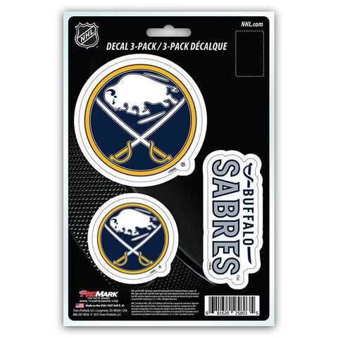 Buffalo Sabres Set of 3 Die Cut Decal Stickers NEW Free Shipping!