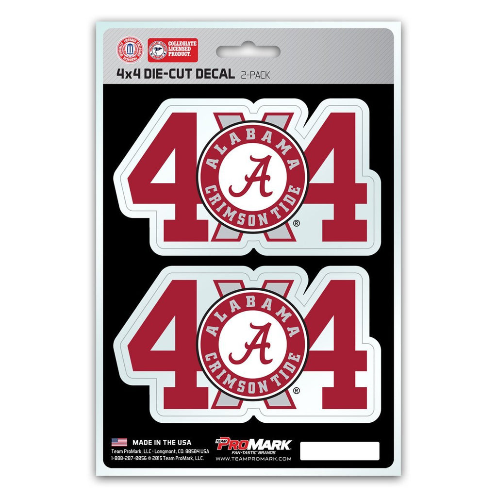 Alabama Crimson Tide 4X4 Truck Decal Stickers Free Shipping