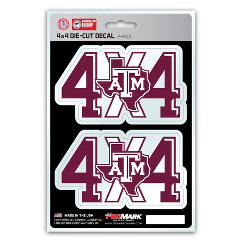 Texas A&M Aggies 4X4 Truck Decal Stickers Free Shipping