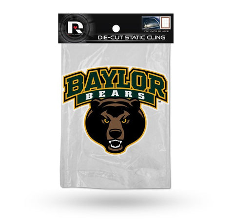 Baylor Bears Die Cut Static Cling Decal Sticker 4 X 5 NEW!! Car Window