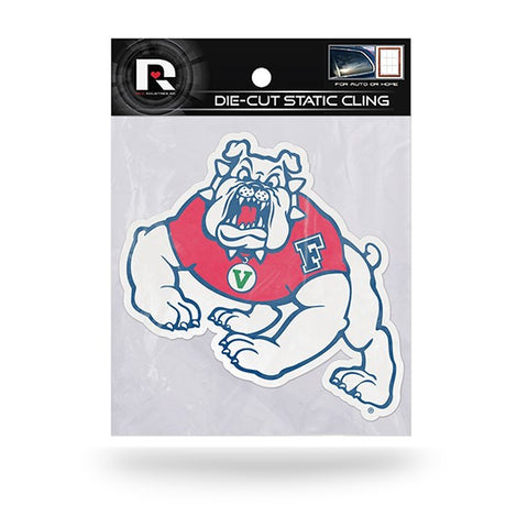 Fresno State Bulldogs Die Cut Static Cling Decal Sticker 4 X 5 NEW!! Car Window
