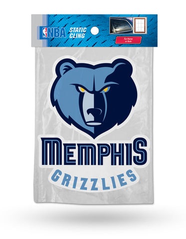 Memphis Grizzlies Die Cut Static Cling Decal Sticker 5 X 4 NEW Car Window