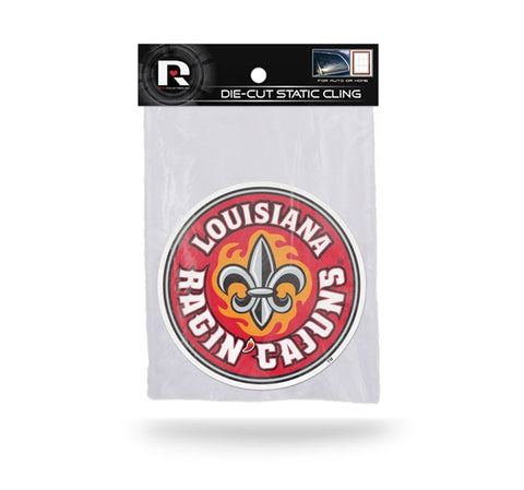 Louisiana Lafayette Ragin Cajuns Die Cut Static Cling Decal Sticker 5 X 5 NEW!! Car Window