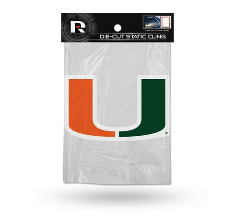 Miami Hurricanes Die Cut Static Cling Decal Sticker 5 X 3 NEW!! Car Window