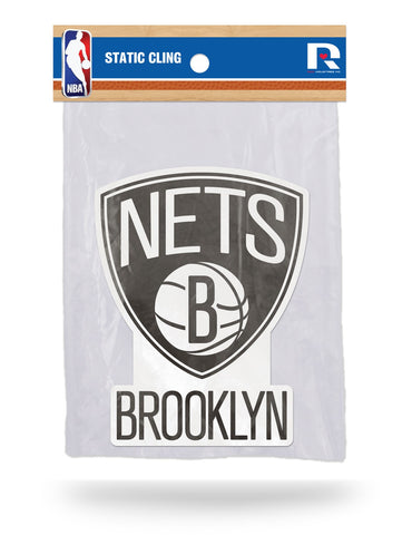 Brooklyn Nets Die Cut Static Cling Decal Sticker 5 X 4 NEW Car Window