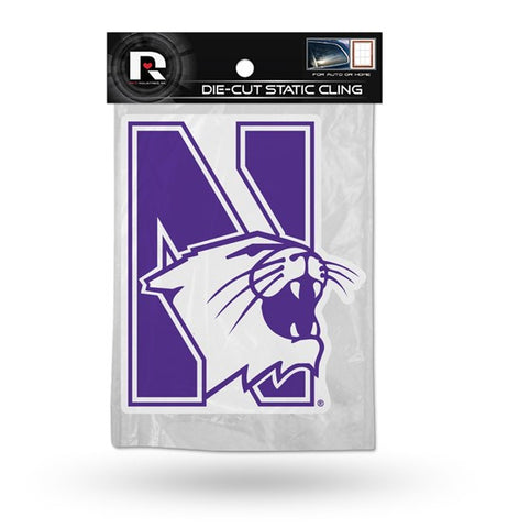 Northwestern Wildcats Die Cut Static Cling Decal Sticker 5 X 5 NEW!! Car Window