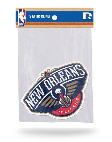 New Orleans Pelicans Die Cut Static Cling Decal Sticker 5 X 4 NEW Car Window