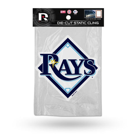 Tampa Bay Rays Die Cut Static Cling Decal Sticker 6 X 2 NEW! Car Window