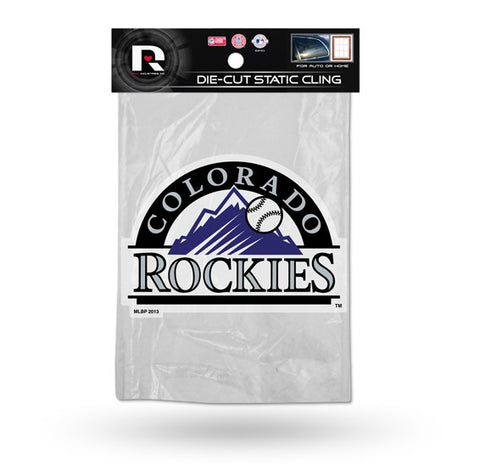 Colorado Rockies Die Cut Static Cling Decal Sticker 4 X 5 NEW!! Car Window