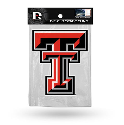 Texas Tech Red Raiders Die Cut Static Cling Decal Sticker 5 X 5 NEW!! Car Window