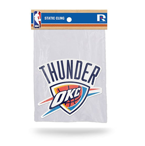 Oklahoma City Thunder Die Cut Static Cling Decal Sticker 4 X 5 NEW!! Car Window