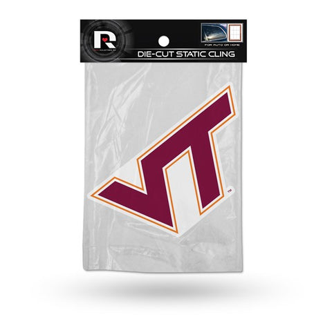 Virginia Tech Hokies Die Cut Static Cling Decal Sticker 5 X 4 NEW!! Car Window