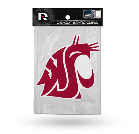 Washington State Cougars Die Cut Static Cling Decal Sticker 5 X 5 NEW!! Car Window