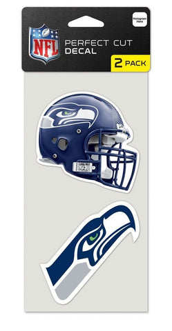 Seattle Seahawks Set of 2 Die Cut Decal Stickers Perfect Cut Free Shipping