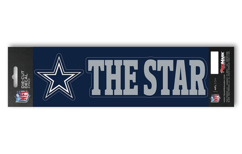 "Dallas Cowboys Set of 2 Die Cut Slogan Decal Stickers ""The Star"""