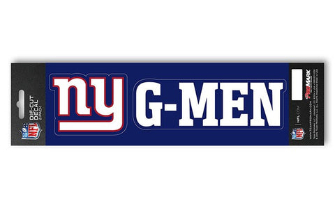 "New York Giants Slogan and Logo Die Cut Decal Stickers ""G-Men"""