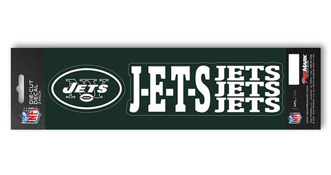"New York Jets Slogan and Logo Die Cut Decal Stickers ""J-E-T-S"""