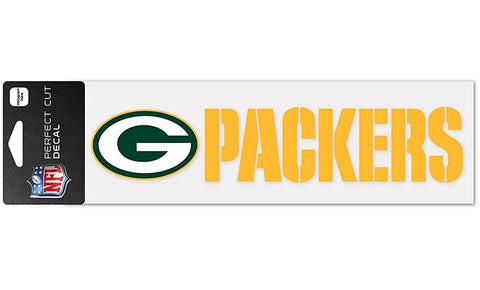 Green Bay Packers Die-Cut Decal 2x9 Perfect Cut Wordmark  Window, Car or Laptop!