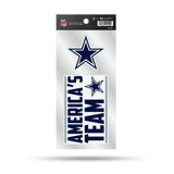 "Dallas Cowboys Set of 2 Die Cut Slogan Decal Stickers ""America's Team"""