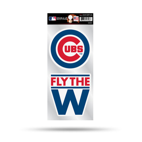 "Chicago Cubs Die Cut Slogan and Logo Decal Stickers ""Fly the W"""
