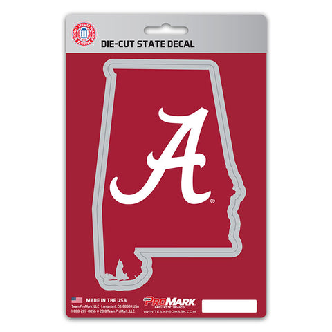 Alabama Crimson Tide State Outline Die-Cut Decal NEW!!! Promark