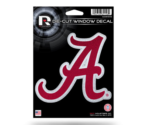 Alabama Crimson Tide *Bling* Die Cut Decal NEW 5 X 5 Window Car or Laptop! Glitter