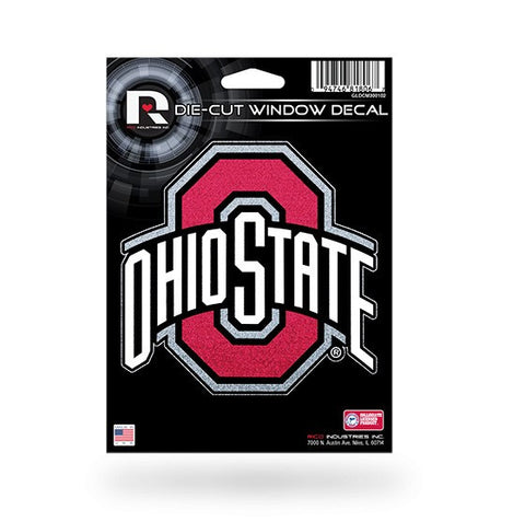 Ohio State Buckeyes *Bling* Die Cut Decal NEW 5 X 5 Window Car or Laptop! Glitter