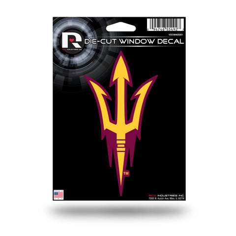 "Arizona State Sun Devils 6"" x 3"" Die-Cut Decal Window, Car or Laptop! NEW!"