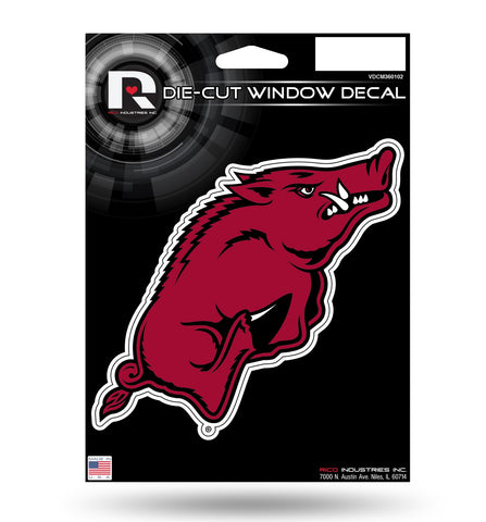 "Arkansas Razorbacks 3"" x 7"" Die-Cut Decal Window, Car or Laptop! NEW!"
