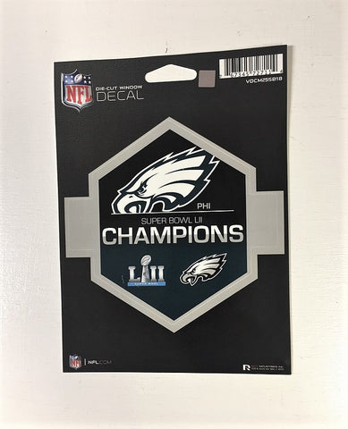 Philadelphia Eagles Super Bowl 52 Champions Die Cut Decal NEW!! 5 X 5 Window or Car!!! Laptop