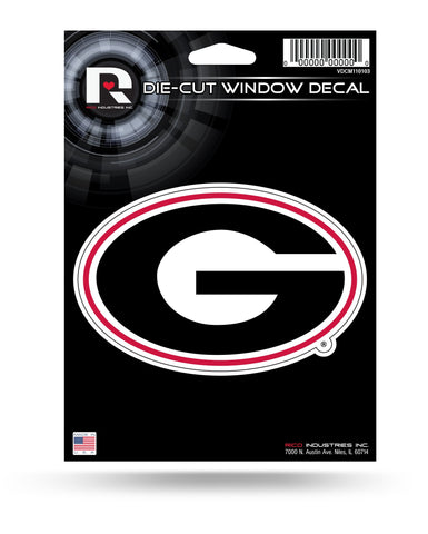 Georgia Bulldogs Die Cut Decal NEW!! 5 X 3 Window, Car or Laptop!