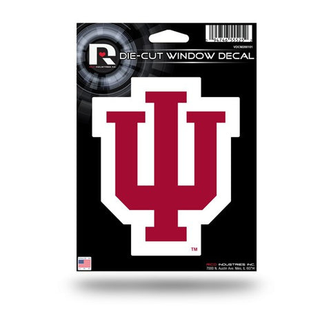 "Indiana Hoosiers 5"" x 4"" Die-Cut Decal Window, Car or Laptop! NEW!"