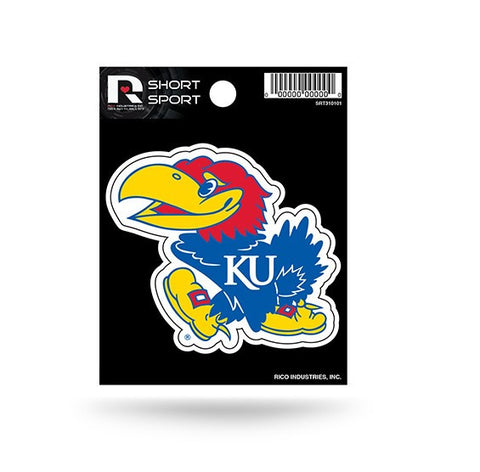 "Kansas Jayhawks 5"" x 5"" Die-Cut Decal Window, Car or Laptop! NEW!"