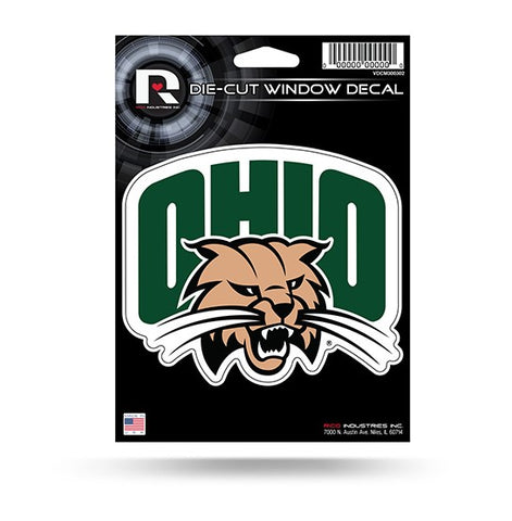"Ohio Bobcats 5"" x 4"" Die-Cut Decal Window, Car or Laptop!"