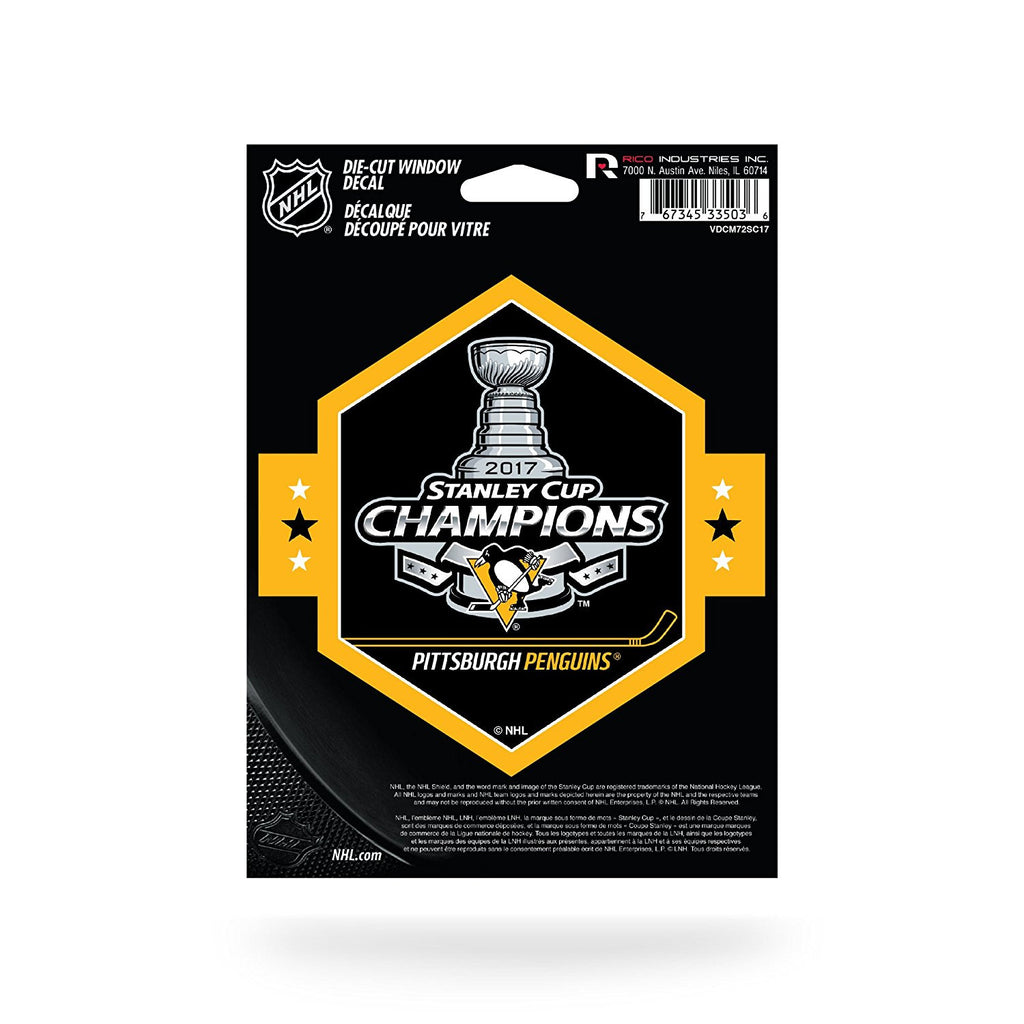 Marque H Et H pittsburgh penguins stanley cup champions die cut decal new 5 x 5 window or  car!!! laptop