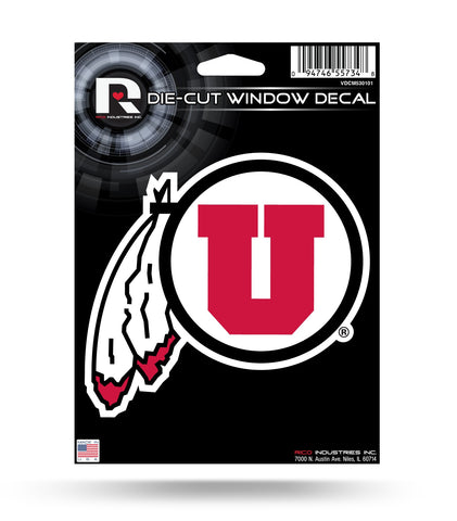 "Utah Utes 6"" x 4"" Die-Cut Decal Window, Car or Laptop! NEW!"