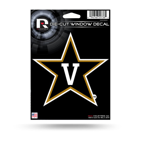 Vanderbilt Commodores Die Cut Decal NEW!! 5 X 5 Window, Car or Laptop!