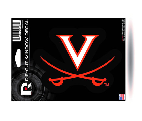 "Virginia Cavaliers 6"" x 5"" Die-Cut Decal Window, Car or Laptop! NEW!"