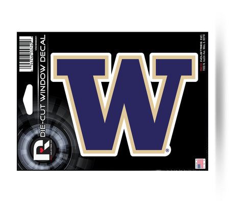 "Washington Huskies 6"" x 4"" Die-Cut Decal Window, Car or Laptop! NEW!"
