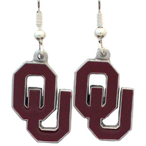 Oklahoma Sooners Logo Dangle Earrings Free Shipping!