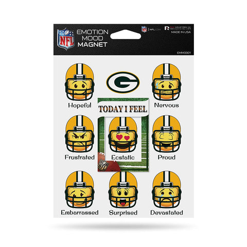Green Bay Packers Emotion Mood Magnet 5x6 Inches NEW NFL Free Shipping!