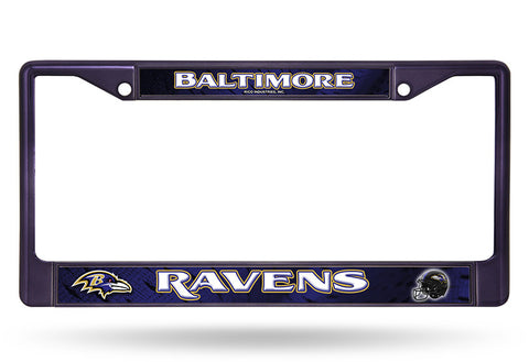 Baltimore Ravens Black Chrome Metal License Plate Cover Frame NEW!!