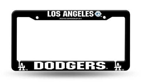 Los Angeles Dodgers Black Plastic License Plate Frame NEW Free Shipping!