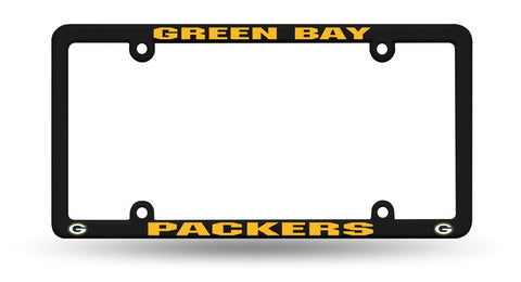 Green Bay Packers Black License Plate Cover Frame NEW!!